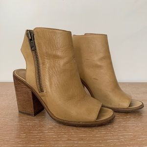 Steve Madden leather peep toe booties